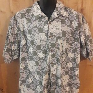 OP Sport Mens Size L Hawaii Button Down Shirt